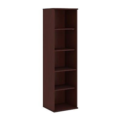 Bush Business Furniture 66H 5 Shelf Narrow Bookcase, Harvest Cherry (BK6618CS)