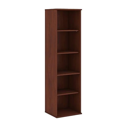 Bush Business Furniture 66H 5 Shelf Narrow Bookcase, Hansen Cherry (BK6618HC)