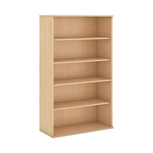 Bush Business Furniture 66H 5 Shelf Bookcase, Natural Maple (BK6636AC)