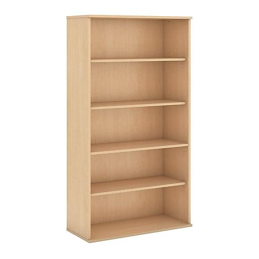Bush Business Furniture 72H 5 Shelf Bookcase, Natural Maple (BK7236ACFA)