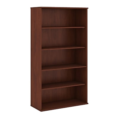 Bush Business Furniture 72H 5 Shelf Bookcase, Hansen Cherry (BK7236HCFA)