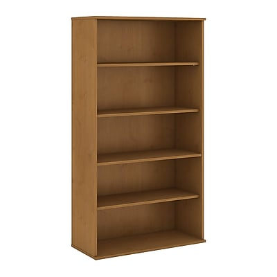 Bush Business Furniture 72H 5 Shelf Bookcase, Natural Cherry (BK7236NC)