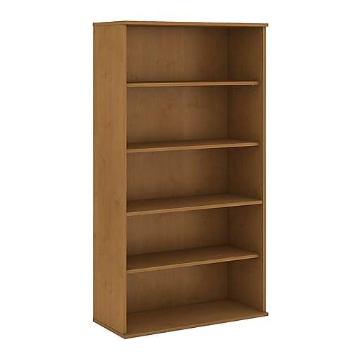 Bush Business Furniture 72H 5 Shelf Bookcase, Natural Cherry (BK7236NC)