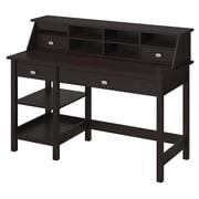 Bush Furniture Broadview Computer Desk with Open Storage and Desktop Organizer, Espresso Oak (BD001EO)