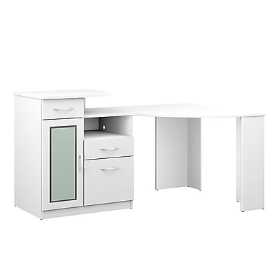 Genial Bush Furniture Vantage Corner Desk, Pure White (HM66115A 03K)