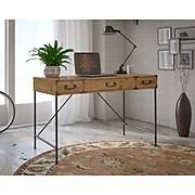 kathy ireland® Home by Bush Furniture Ironworks 48W Writing Desk, Vintage Golden Pine (KI50101-03)