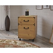 kathy ireland® Home by Bush Furniture Ironworks 2 Drawer Mobile File Cabinet, Vintage Golden Pine (KI50102-03)