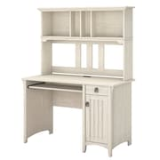Bush Furniture Salinas Mission Desk with Hutch, Antique White (MY72208-03)