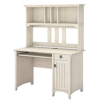 Superieur Bush Furniture Salinas Mission Desk With Hutch, Antique White (MY72208 03)