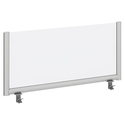 Bush Business Furniture 42W Desk Top Privacy Screen , Frosted Acrylic/Anodized Aluminum (PSP142FRFA)