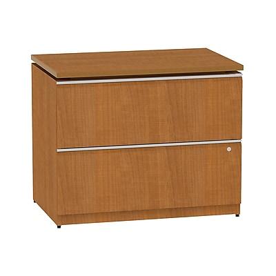 Bush Business Furniture Milano2 36W 2 Drawer Lateral File Cabinet, Golden Anigre (50F36GA)