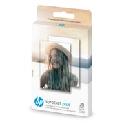 "HP Sprocket Plus 2"" x 3"" Stickly Back Photo Paper, 20/Pack (2FR23A)"