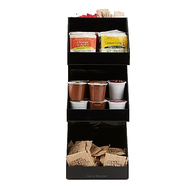 Mind Reader 'Fancy' Black Acrylic 3 Tier Condiment Organizer, Black (3TCORG-BLK)
