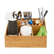Mind Reader 'Square' 9 Compartment Condiment Organizer, Bamboo wood (COMP9BMB-BRN)