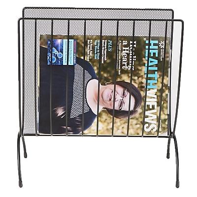 Mind Reader Magazine Wire Rack, Black (MAGWIRE-BLK)