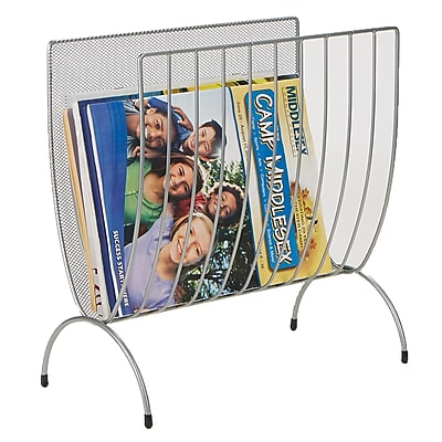 Mind Reader Magazine Wire Rack, Silver (MAGWIRE-SIL)