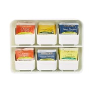 Mind Reader 'Clutch' 6 drawer Tea Bag Holder, White (STBORG-WHT)