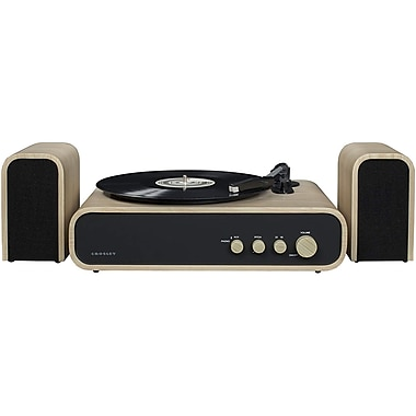 Crosley Cr6035a Na Gig 2 Sd Turntable Shelf System With Speakers Natural