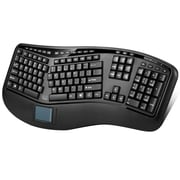 Adesso WKB-4500UB Tru-Form™ Media 4500 2.4GHz Wireless Ergonomic 3D Touchpad Keyboard