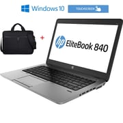 "HP Refurbished Elitebook 840 G1 14"" Touch Screen Ultrabook, 1.9 GHz Intel Core i5 4300U, 256 GB SSD, 16 GB DDR3, Windows 10 Pro"