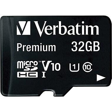 Verbatim® 32GB microSDHC Card (Class 10) with Adapter