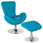 Flash Furniture Egg Series Side Reception Chair with Ottoman
