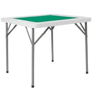 Flash Furniture 34.5'' Square Granite White Folding Game Table with Green Playing Surface (DADMJZ88)