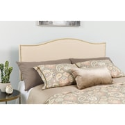 Flash Furniture Lexington Upholstered King Size Fabric Headboard with Accent Nail Trim