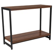 Flash Furniture Grove Hill Collection Rustic Wood Grain Finish Console Table with Black Metal Frame (NANJH1747)