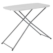 Flash Furniture 18.75''W x 29''L Height Adjustable Granite White Plastic Folding Table (RB3020ADJRES)