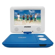 """Sylvania 7"""" Swivel Screen Portable DVD Player with Matching Headphones, Blue and White (SDVD7043-BLWHT)"""