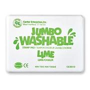 Center Enterprises Jumbo Washable Stamp Pad, Lime Green Ink (CE-5510)