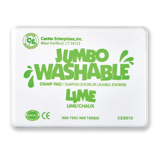 Washable Stamp Pads, Center Enterprises Lime Green, Jumbo