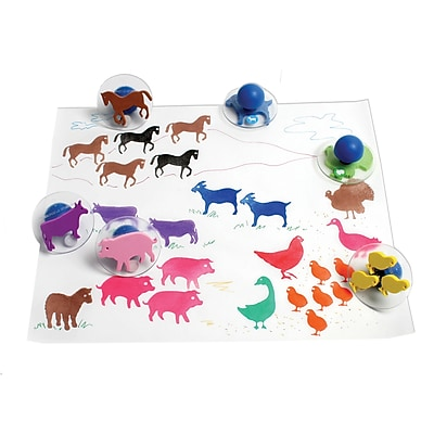 Ready2Learn™ Giant Stampers, Farm Animals, 10/pkg