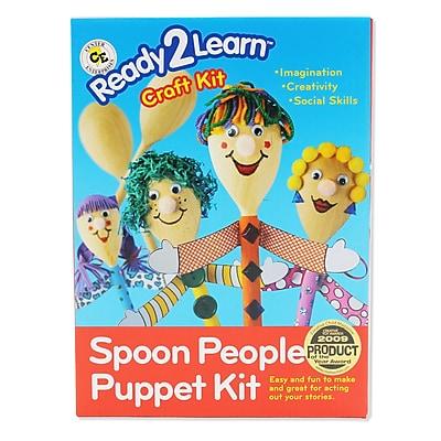 Center Enterprises® Ready2Learn Craft Kit, Spoon People Puppet, 6/ST, 2 ST/BD