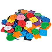 Learning Advantage® Colorful Assortment of Buttons, 41mm to 50mm Diameter, Pack of 100 (CTU13830)