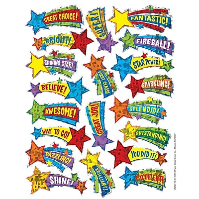 Eureka® Sparkle Sticker, Shooting Stars, 22/Pack