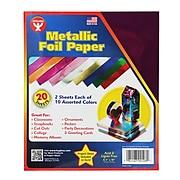 "Hygloss® Metallic Foil Paper, 10"" x 8-1/2"" (HYG108)"