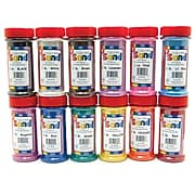 Hygloss Bucket O' Sand Jars, Assorted Colors, 12/Pack (HYG29129)