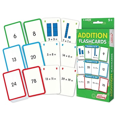 Addition Flash Cards for ages 5+, 1 pack of 162 cards (JRL204)