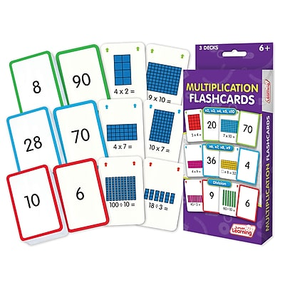 Junior Learning Multiplication Flash Cards for ages 6+, 1 Pack of 162 cards (JRL206)