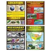 McDonald Publishing Exploring 5 Themes Geography, Cardstock Posters, Grades 4-6 (MC-P064)