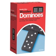 Pressman® Toy Early Learning Game, Double Nine Wooden Dominoes, 55/ST, 3 ST/BD