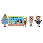 """The Puppet Company, Traditional Story Sets Goldilocks and The Three Bears, 13.5"""" x 9.5"""", 5/set (PUC007902)"""