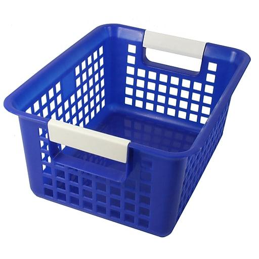 Romanoff Book Basket, Blue, Set of 3 (ROM74904)
