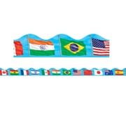 Scholastic Teaching Resources Flags Scalloped Trimmer (36 x 2.25)