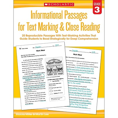 Gr 3 Informational Passages for Text Marking & Closing Reading (SC-579379)