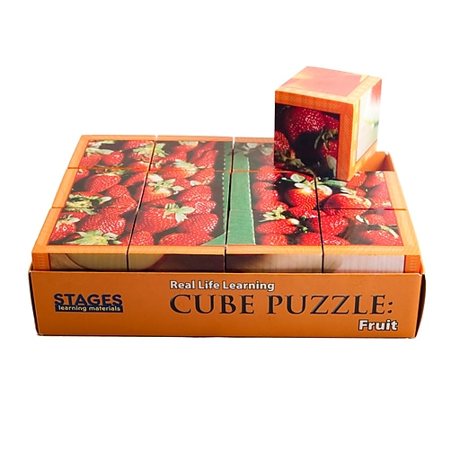 """Stages Learning Materials® 1 1/2"""" Fruits Cube Puzzle"""