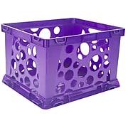 """Storex Mini Crate School, 9""""L x 7.75""""W x 6""""H, Purple, Set of 6 (STX61494U24C)"""