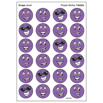 Trend Stinky Stickers, Small Round, Purple Smiles Scented Grape